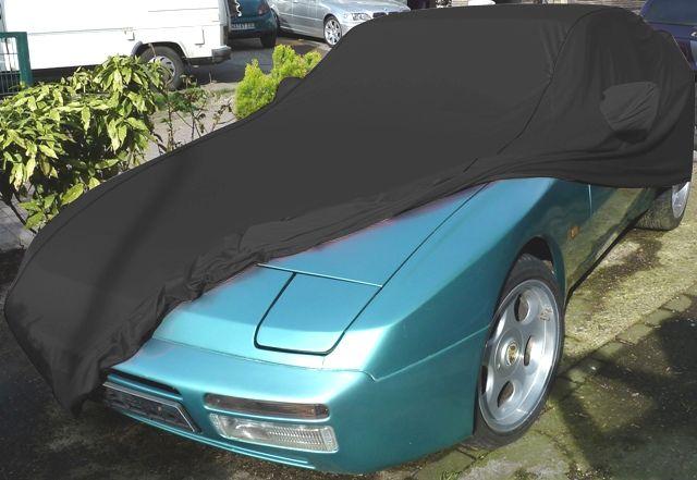 Porsche Car Cover: AD Performance Car-Cover Satin Black Porsche 944