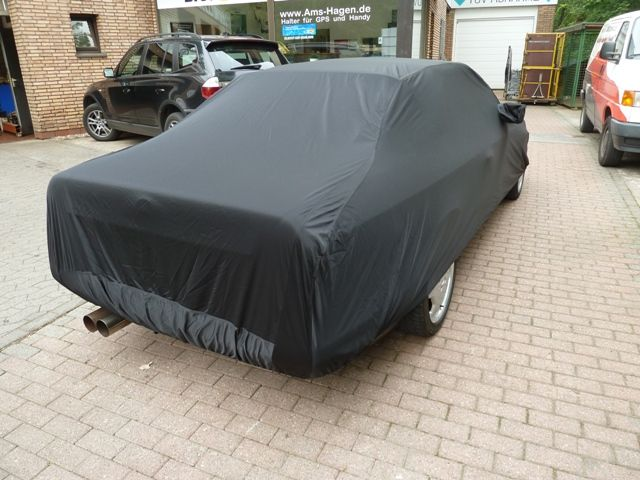 Car cover satin black mit spiegeltasche f r mercedes e for Mercedes benz e350 car cover