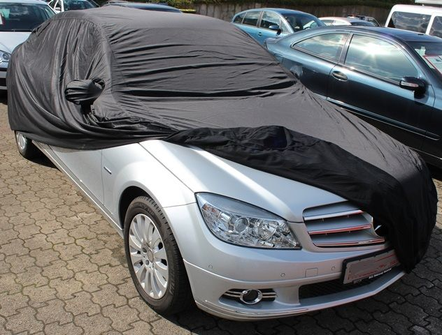 Car Cover Satin Black With Mirror Pockets For Mercedes C