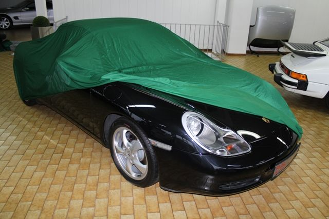 car cover satin gr n f r porsche boxster. Black Bedroom Furniture Sets. Home Design Ideas