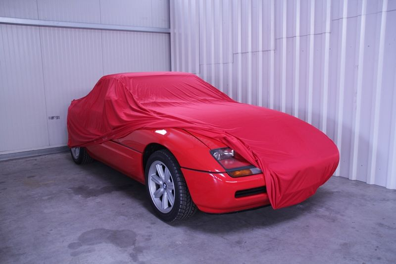 autoabdeckung vollgarage car cover samt red f r bmw z1. Black Bedroom Furniture Sets. Home Design Ideas