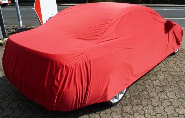 Autoabdeckung Vollgarage Car Cover Samt Red Mit