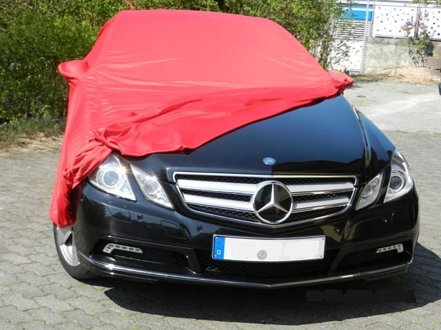 Autoabdeckung vollgarage car cover samt red mit for Mercedes benz e350 car cover