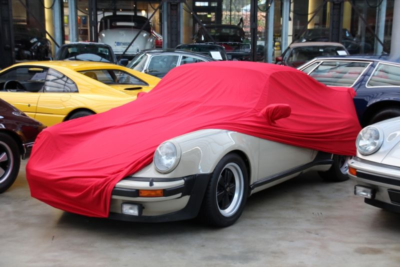 autoabdeckung vollgarage car cover samt red mit spiegeltasche f r porsche 993. Black Bedroom Furniture Sets. Home Design Ideas