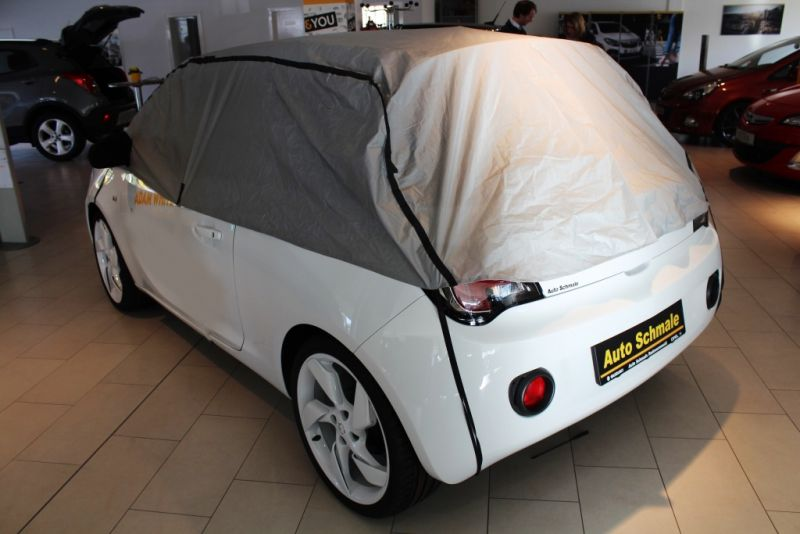 halbgarage mit spiegeltaschen f r opel adam. Black Bedroom Furniture Sets. Home Design Ideas