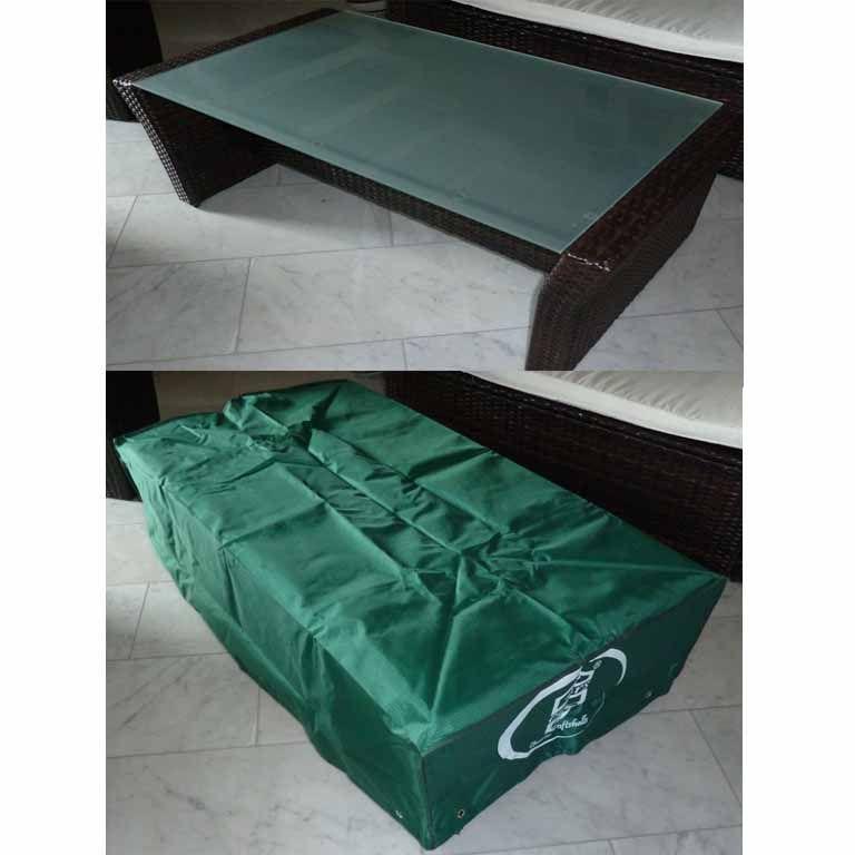 schutzh lle f r flachen gartentisch beistelltisch lounge. Black Bedroom Furniture Sets. Home Design Ideas