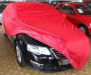 Car-Cover Samt Red with Mirror Bags for  VW Passat Limousine B6