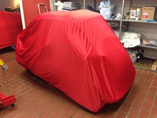 Car-Cover Satin Red für BMW Isetta
