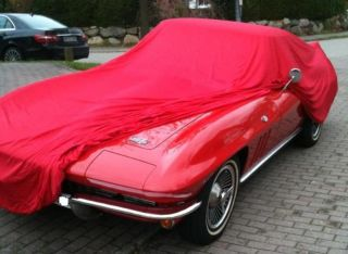 Car-Cover Satin Red für Chevrolet Corvette C2