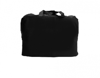 Satin Black carry bag with Zipper - without printing