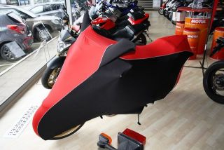 Perfect tailored motorcycle protective cover with mirror pockets for Honda CB 1000 R