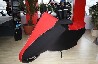 Perfect tailored motorcycle protective cover with mirror pockets for Honda Crosstourer