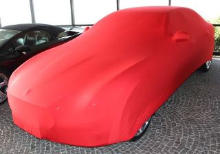 Red AD-Cover ® Mikrokontur with mirror pockets for Maserati Quatroporte Q4