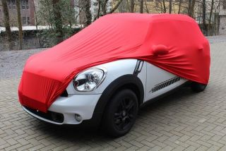 Red AD-Cover ® Mikrokontur with mirror pockets for Mini Countryman
