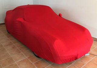 Red AD-Cover ® Mikrokontur with mirror pockets for Porsche 993 Turbo
