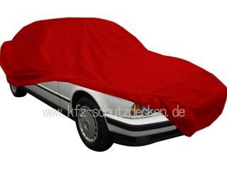 Car-Cover Samt Red with Mirror Bags for BMW 5er (E34)...