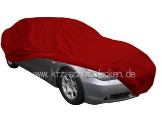 Car-Cover Samt Red with Mirror Bags for BMW 5er E60 ab Bj.04