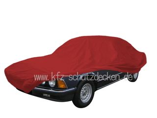 Car-Cover Samt Red with Mirror Bags for BMW 7er (E32) ab...