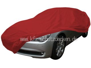 Car-Cover Samt Red with Mirror Bags for BMW 7er (F01) ab...