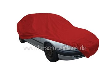 Car-Cover Samt Red with Mirror Bags for Opel Astra F...
