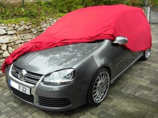 Car-Cover Samt Red with Mirror Bags for VW Golf V