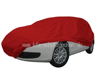 Car-Cover Samt Red with Mirror Bags for VW Golf VI