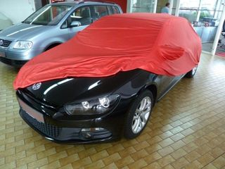 Car-Cover Samt Red with Mirror Bags for VW Scirocco 3