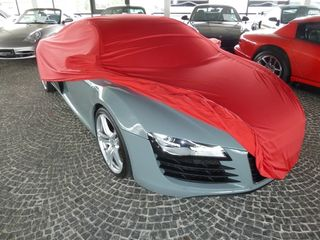 Car-Cover Samt Red with Mirror Bags for Audi R8