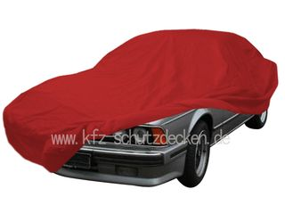 Car-Cover Samt Red with Mirror Bags for BMW 630CS-635CSI