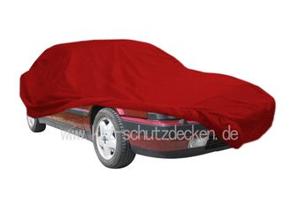 Car-Cover Samt Red with Mirror Bags for Lancia Thema