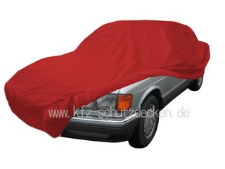 Car-Cover Samt Red with Mirror Bags for Mercedes SE/C...