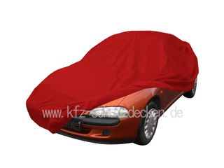 Car-Cover Samt Red with Mirror Bags for Opel Tigra