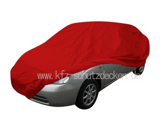 Car-Cover Samt Red with Mirror Bags for Toyota Prius