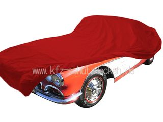 Car-Cover Satin Red für Chevrolet Corvette C1