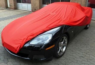 Car-Cover Satin Red für Chevrolet Corvette C6