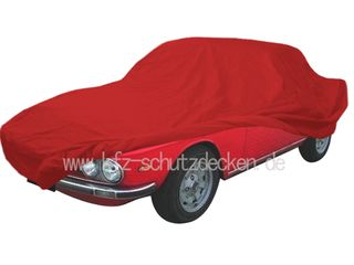 Car-Cover Satin Red für Lancia Fulvia Coupé