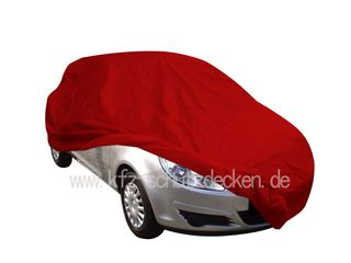 Car-Cover Satin Red für Opel Corsa D ab 2008