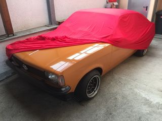 Car-Cover Samt Red for Opel Kadett C-Coupe