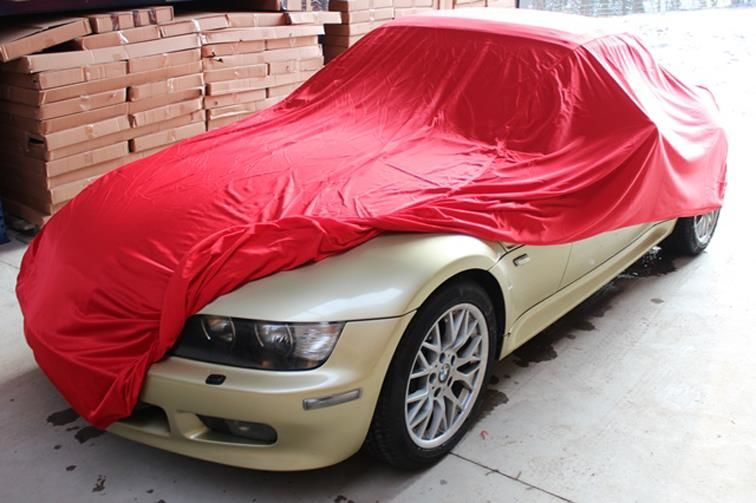 Autoabdeckung Vollgarage Car Cover Samt Red F 252 R Bmw Z3