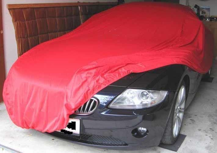 Autoabdeckung - Vollgarage - Car-Cover Samt Red für BMW Z4