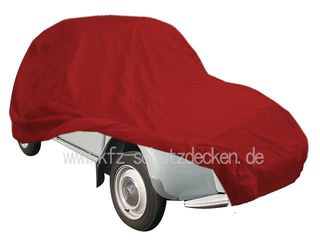 Car-Cover Samt Red for Citroen 2 CV / Ente