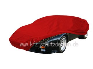 Car-Cover Satin Red für De Tomaso Pantera