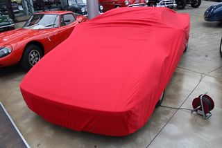 Car-Cover Satin Red für Ferrari Testarossa