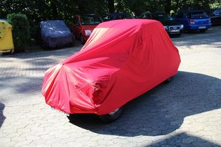 Car-Cover Satin Red für Fiat Topolino