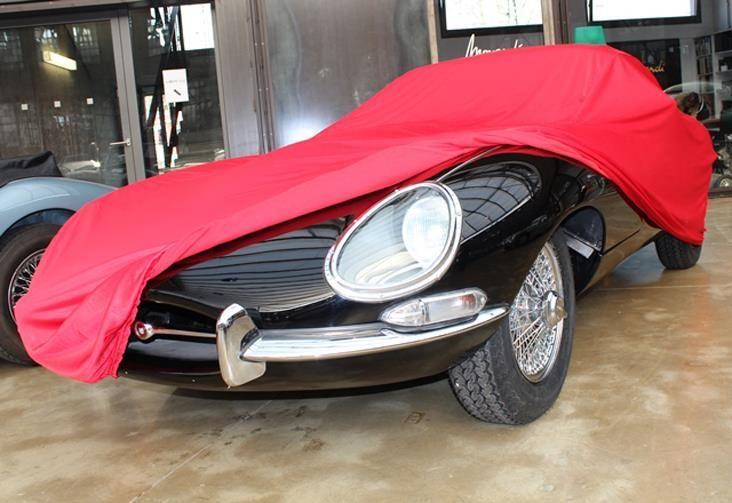 autoabdeckung vollgarage car cover samt red f r jaguar. Black Bedroom Furniture Sets. Home Design Ideas