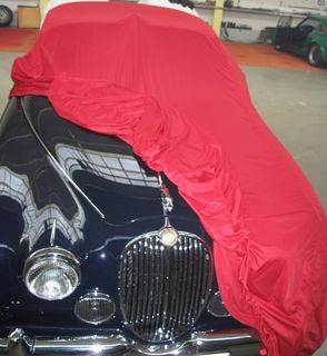 Car-Cover Satin Red für Jaguar MK2