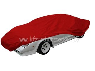 Car-Cover Satin Red für Lamborghini Countach