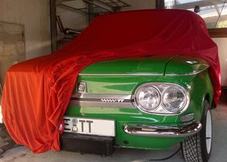 Car-Cover Satin Red für NSU Prinz