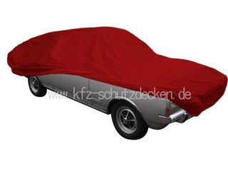 Car-Cover Satin Red für Opel Rekord C Coupe