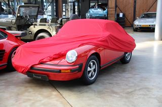 Car-Cover Satin Red für Porsche 911